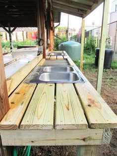 Vegetable Wash Stations - Urban Farm Plans