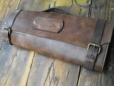 Chef Knife leather Roll knife leather bag chef knife by GORIANI