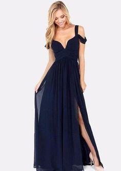 High Slit Ruffle Open Front Maxi Dress