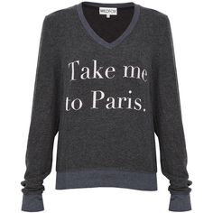 WILDFOX Take Me To Paris Sweater found on Polyvore