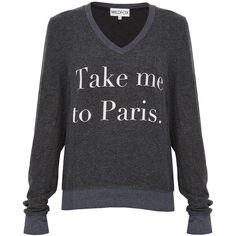 WILDFOX Take Me To Paris Sweater found on Polyvore