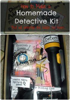 Homemade Detective Kit for summer fun