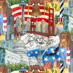 USA All the Way - American Landmarks - Multi