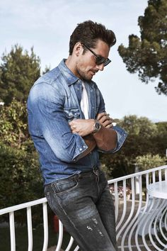 It's been a decade since Gandy appeared in Dolce & Gabbana's now iconic Light Blue campaign, and the 36-year-old still looks photo-ready even off-camera, as though he was designed in a lab, except he's completely self-made.
