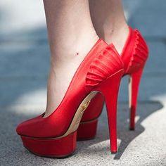 Red hot high heels
