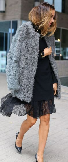 By Benedicthe Layered Lace Skirt Fall Street Style Inspo by Stylista