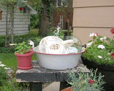 DIY Craft Projects using China Plates Dishes - Trash to Treasure - Architectural Salvage