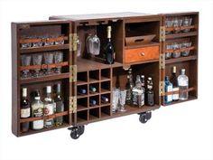 Rustic Lodge Bar Cabinet
