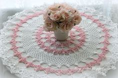 Here is another doily made from a vintage pattern. I used size ten crochet cotton thread and 1.25 mm steel hook. My doily...
