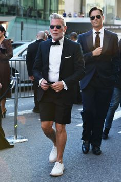 Nick Wooster, killing it again. He always manages to keep things casual, channeling Thom Browne here.