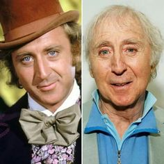 Gene Wilder, then and now at 82.