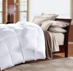 Cuddledown 1000 Fill Power Batiste Down Comforter King Level 3 White ** Check out the image by visiting the link.