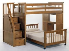 loft bed images | ... 99.5 in. Stair Loft w Twin Lower Bed and Mattress (nek-6090-StdntLft