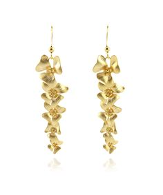 Take a look at this Gold La Fleur Charm Drop Earrings today!
