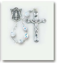 Image of Aurora Oval Sterling Rosary