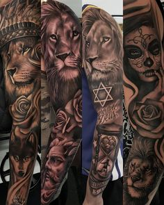 The Effective Pictures We Offer You. Lion Forearm Tattoos, Lion Head Tattoos, Forarm Tattoos, Arm Tattoos For Guys, Leg Tattoos, Body Art Tattoos, Animal Sleeve Tattoo, Lion Tattoo Sleeves, Best Sleeve Tattoos