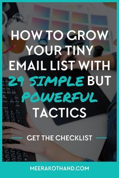 Are you optimizing your blog in the right way so that you don't leak subscribers? Are you doing simple but highly effective things that could add targeted subscribers to your list every single day? In this post, I share 29 simple but powerful strategies that I've tried. They helped me add more than 300 people to my list in less than 3 months. My favourite strategy is #13.
