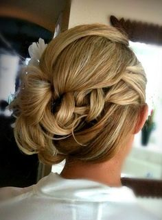 Wedding upstyle Image via behindthechair wedding hair Pageant Hair, Prom Hair, Prom Updo, Bride Hairstyles, Pretty Hairstyles, Wedding Hair And Makeup, Hair Makeup, Hair Upstyles, Bridesmaid Hair