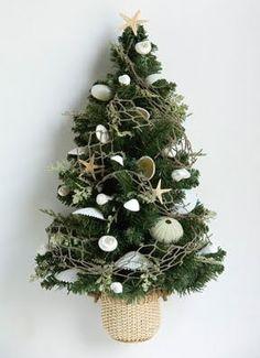 beach themed christmas trees | christmas tree wall hanging starfish christmas tree topper shell tree