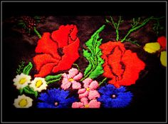 poppy embroidery hand made belt Poppy, Belt, Embroidery, Handmade, Painting, Needlework, Hand Made, Waist Belts, Needlepoint