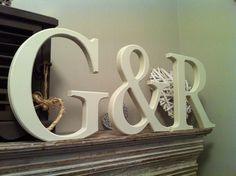Set of 3 - Handpainted Wooden Freestanding Wedding Letters, Photo Props - 30cm by LoveLettersMe on Etsy https://www.etsy.com/listing/206512284/set-of-3-handpainted-wooden-freestanding #craftfest