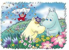 Les Moomins (série tv) - The Diary Of Otaku Cute Characters, Anime Characters, Moomin Wallpaper, Les Moomins, Belle And Boo, Moomin Valley, Tove Jansson, Old Cartoons, Totoro