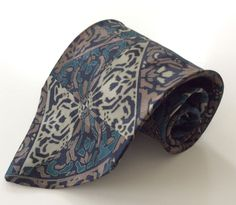 Saliari Neck Tie Green Brown Black Beige Floral Geometric MADE ITALY 100% Silk #Saliari #NeckTie