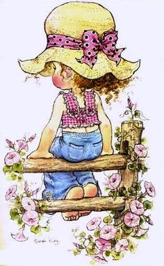By Sarah kay Sarah Key, Holly Hobbie, Sara Key Imagenes, Vintage Pictures, Cute Pictures, Coloring Books, Coloring Pages, Hobby Horse, Vintage Cards
