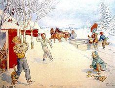 Maj Lindman Jansson (1886-1972) - mese di gennaio