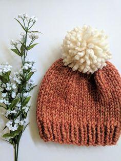 f74c0def5db Knitting Pattern, Classic Knit Beanie Pattern, Trendy Winter Hat, Classic  Winter Hat Pattern, Beginn