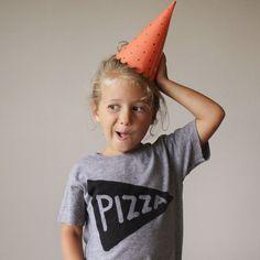 Kinder-Pizza-Party-Tee - typographic Druck, Grafik Tee, Jungs und Mädels, Tmnt, Pizzaparty, cool Tee, Tmnt, Kinder Kleidung, Mädchen-tee