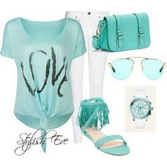 Blue spring summer outfits