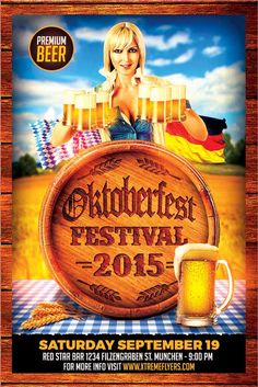 Oktoberfest Flyer Template - http://xtremeflyers.com/oktoberfest-flyer-template/ Oktoberfest Flyer Template  Oktoberfest Flyer Template  Oktoberfest Flyer Template – Super easy to edit, well organized in folders with names, you can easily change texts, Colors, Add/Remove elements to this layered PSD.  #flyer #template #psd #event #party #bar #pub #club #advertisement #advertising #bbq #barbecue #german #germany #oktoberfest #festival #autumn #beer