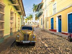 Colonial street in Trinidad by Dan Lundberg · Wild Caribe Trinidad, Cuban Cars, Cuba Pictures, Colonial, Street, Thesis, Bella, Nostalgia, Santiago De Cuba