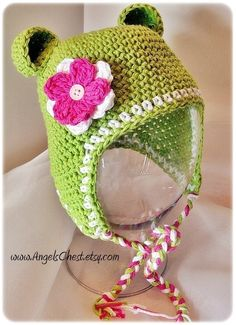 PDF Pattern Earflap Monkey hat with detachable flowers and braids Sizes Preemie To 4 Years No. 1. $6.99, via Etsy.