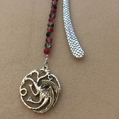 Now back in stock - Game of Thrones 'Targaryen Dragon' inspired bookmark.
