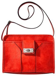 Merona® Women's Solid Crossbody Handbag Red/Orange - MeronaTM