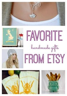 Love to give DIY handmade gifts - but don't necessarily want to make them yourself? We're sharing our favorite Handmade Gifts and crafts from Etsy. Whether you're shopping gifts for the home, for kids or to wear, you'll love these handmade gifts. Perfect for Christmas and the holidays.