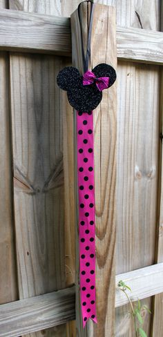 Sparkly Minnie Mouse Bow Holder