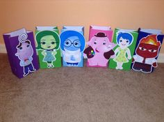 Cute Emotions Party Goody Bags by Onecraftyhippo on Etsy Inside Out Party Ideas, Anger Management For Kids, Goody Bags, Trunk Or Treat, 2nd Birthday Parties, Geo, Pixar, Card Stock, Goodies