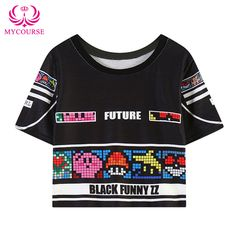 a3d67e8b4e9 Find More T-Shirts Information about MYCOURSE Harajuku Summer New Women  Tops Punk Printed Tees
