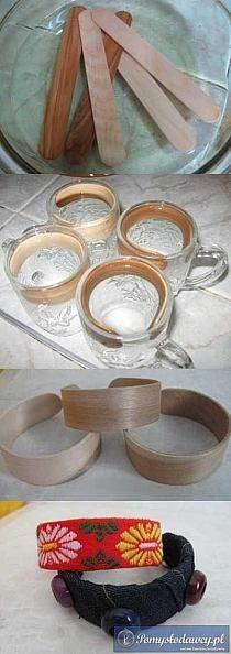 Wooden bracelet base