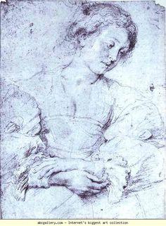 Peter Paul Rubens. Portrait of a Girl. Olga's Gallery.