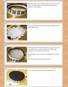 DIY pill box hat  Gotta make this for my 17 yr old! She will love it!!--Misty