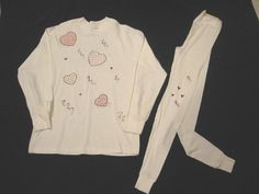 Long sleeves tee shirt and leggings hand by AnjusCreations on Etsy, $20.00