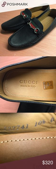 Men's Gucci Horsebit Leather Loafers sz. 10.5 NEW Brand new, unworn Gucci Horsebit black leather driver shoes. Men's Size 10.5. Retail: $520 Gucci Shoes Loafers & Slip-Ons