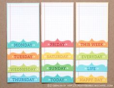 Journaling cards for PL by Geralyn Sy. Love!