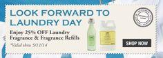 Enjoy 25% OFF Laundry Fragrance thru 5/11.