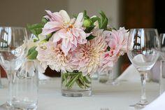 Dahlia centerpiece- light pink