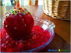 Manzanas caramelizadas Raspberry, Pudding, Fruit, Desserts, Food, Halloween Recipe, Apples, Tailgate Desserts, Eten
